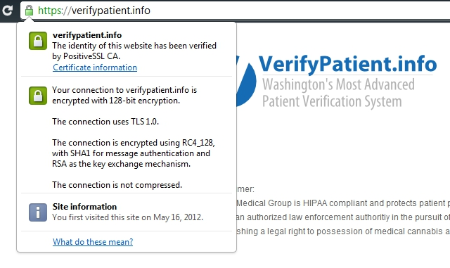 Verify Patient Encryption